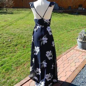 55716e70cf Lulu s Dresses - Lulus All Mine Navy Floral Hi Low Maxi Wrap Dress